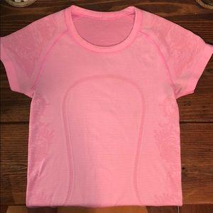 Light pink Lululemon T-shirt top